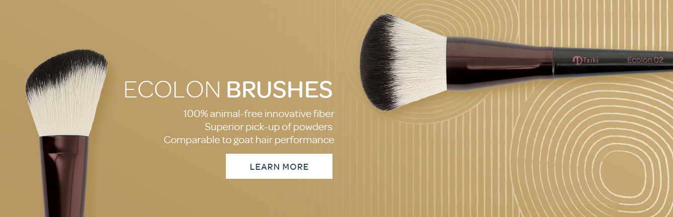 Ecolon brush high performance synthetic fiber for make up powders