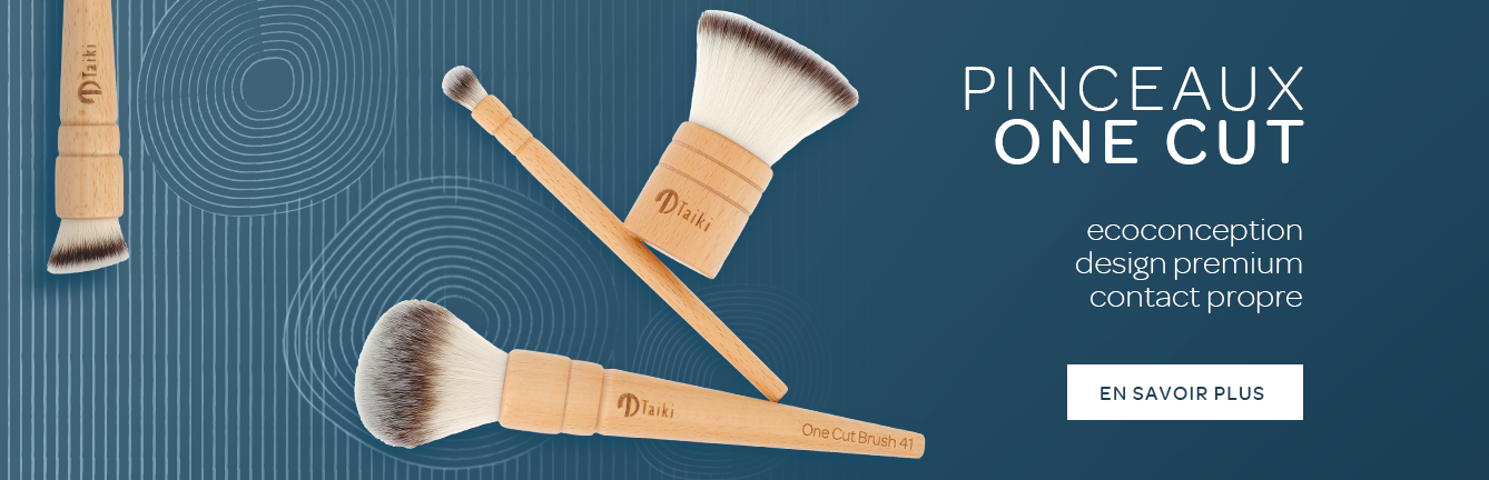 "Fabricant de pinceaux maquillage éco-responsables ""One Cut Brush"""